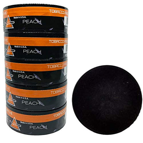 Nip Energy Dip Peach 5 Cans with DC Crafts Nation Skin Can Cover - Black