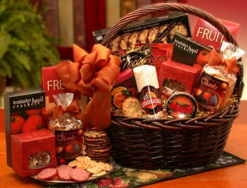 Thank You Gift - A Grand World Of Thanks Gourmet Gift Basket