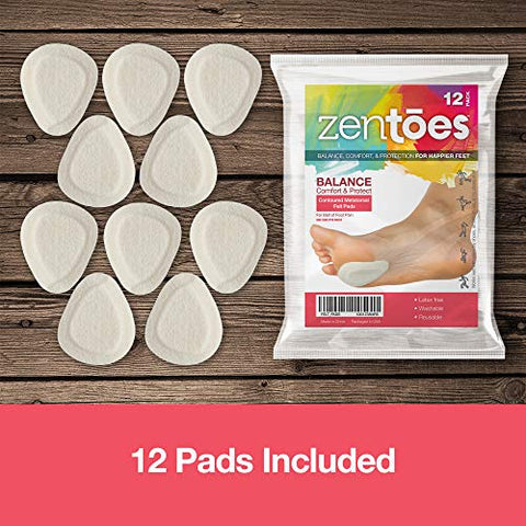 ZenToes Metatarsal Felt Pads - 6 Pair Pack -