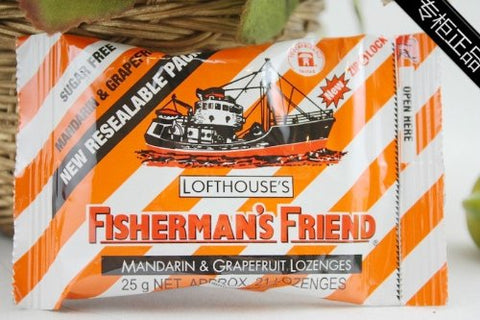 Fisherman's Friend Sugar Free Mandarin and Grapefruit Lozenges, 25g Sachet (Pack of 3)