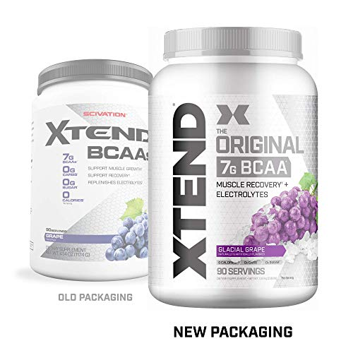 Xtend Original Bcaa Powder Glacial Grape | Sugar Free Post Workout Muscle Recovery Drink With Amino