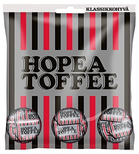 Malaco Hopea Toffee - (Hopeatoffee) - Salmiak - Salty Licorice - Toffee - Candies - Sweets - Bag 169g