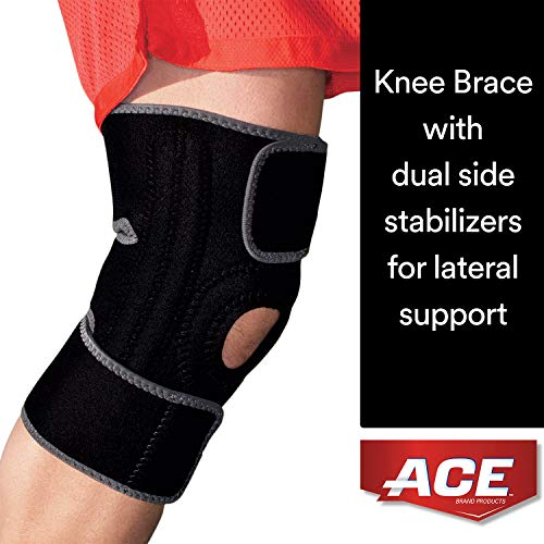 Ace Adjustable Knee Brace With Dual Side Stabilizers, Helps Support Weak, Injured, Arthritic Or Sore