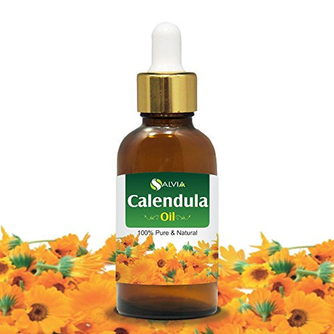 Calendula Essential Oil (Calendula officinalis) 100% Pure & Natural - Undiluted Infused Aromatherapy Oil - Therapeutic Grade (50ml with dropper)