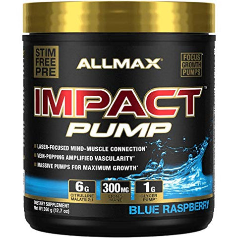 Allmax Nutrition Impact Pump, Blue Raspberry, 12.7 Oz (360 G)