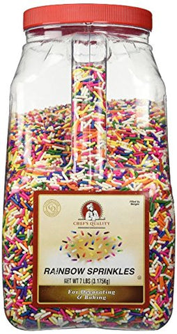 Chef's Quality Rainbow Sprinkles 7lb (bulk Pack of 2)