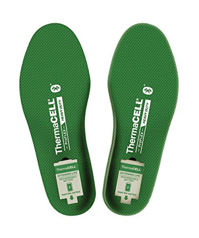 Thermacell PFHD-XL Proflex Heavy Duty Heated Shoe Insoles with Bluetooth Compatibility, XL
