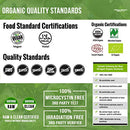 Image of Organic Spirulina Powder: 4 Organic Certifications - Certified Organic by USDA, Ecocert, Naturland & OCIA - Vegan Farming Process, Non-Irraditated, Max Nutrient Density (8 oz.)