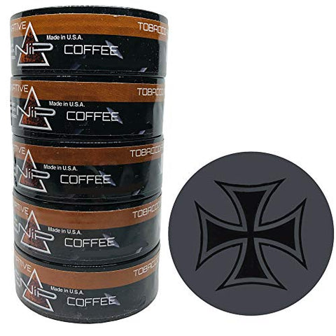 Nip Energy Dip Coffee 5 Cans with DC Crafts Nation Skin Can Cover - Iron Cross