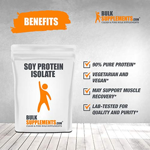 Bulksupplements Soy Protein Isolate Powder (250 Grams)