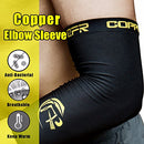 Image of CFR Elbow Compression Support Sleeve - High Copper Content Elbow Braces for Workouts Tennis Arthritis Tendonitis True Fit One Piece,L UPS Post