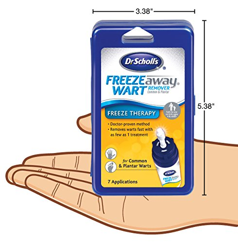 Dr. Scholl's FreezeAway Wart Remover, 7 Applications // Doctor-Proven Treatment to Rapidy Freeze and Remove Common and Plantar Warts