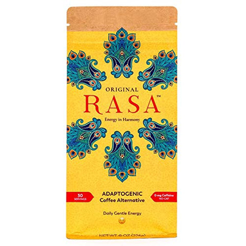 Original Rasa Herbal Coffee Alternative with Ashwagandha, Chaga + Reishi for All-Day Energy + Focus - Caffeine-Free, Organic, Adaptogens, Vegan, Keto, Whole30, 8 Ounce