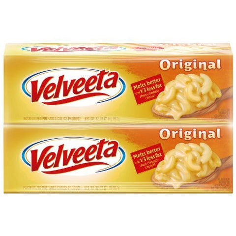 Velveeta Cheese 32 Oz. - 2 Boxes Total 4 Pounds Melts Better by Velveeta