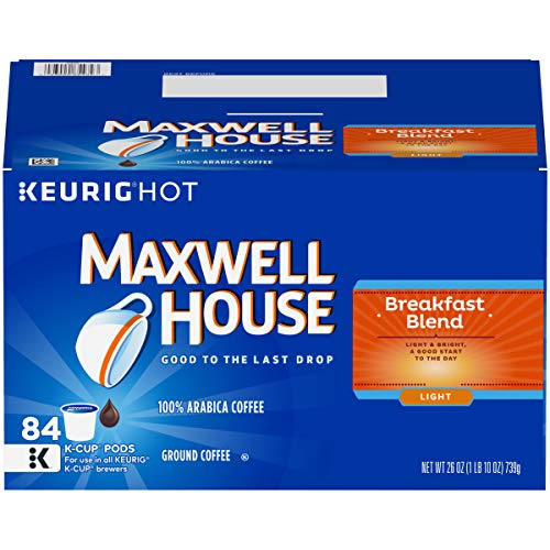 Maxwell House Breakfast Blend Light Roast K Cup Coffee Pods (84 Pods)