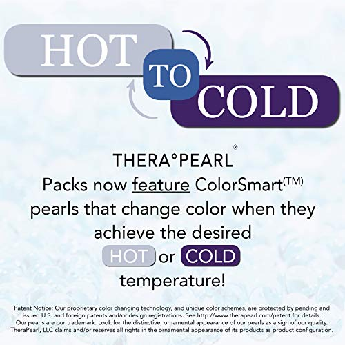 TheraPearl Color Changing Hot Cold Pack for Back, Reusable Back Wrap with Strap & Gel Beads, Best Ice Bag for Lower Back Pain Relief, Flexible Hot & Cold Compress for Swelling, Sports Injuries