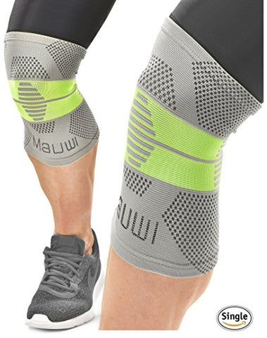 Mauwi Compression Knee Sleeve. ACL Knee Brace for Men & Women. Knee Support for Running, CrossFit, Basketball, Weightlifting. Patella Stabilizer for Arthritis, Meniscus Tear, Joint Pain Relief. Size S