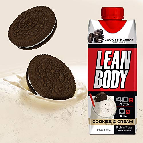 Lean Body Ready To Drink Cookies & Cream Protein Shake With Whey. Convenient On The Go Meal Replacem