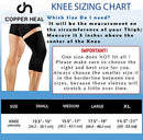 Image of COPPER HEAL Knee Compression Sleeve Recovery Knee Brace Guaranteed with Highest Copper Infused Content to Support Stiff Sore Muscles and Joints Meniscus Tear & Patella Stabilizer Strap