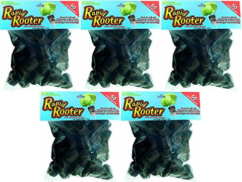 General Hydroponics Rapid Rooter Replacement Plugs mnJTRUg, 50 Count (5 Pack)