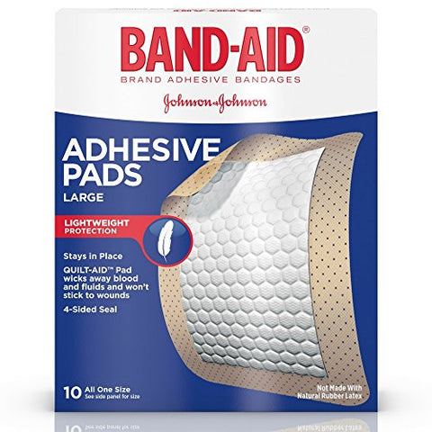 BAND-AID Adhesive Pads Comfort-Flex Large 10 Each (Pack of 24)