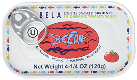 Bela Lightly Smoked Sardine In Tomato Sauce (12x4.25Oz )