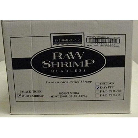 Seamazz Easy Peel White Shrimp, 21/25 Count -- 10 per case.