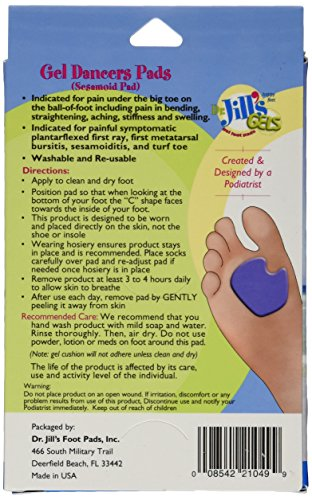 Dr. Jill's Gel Dancer's Pads (Right Foot)