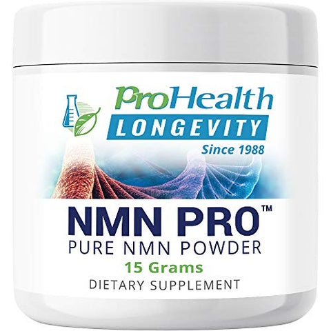 ProHealth NMN Powder (15 Grams) Nicotinamide Mononucleotide | NAD+ Precursor | Supports Anti-Aging, Longevity and Energy | Non-GMO