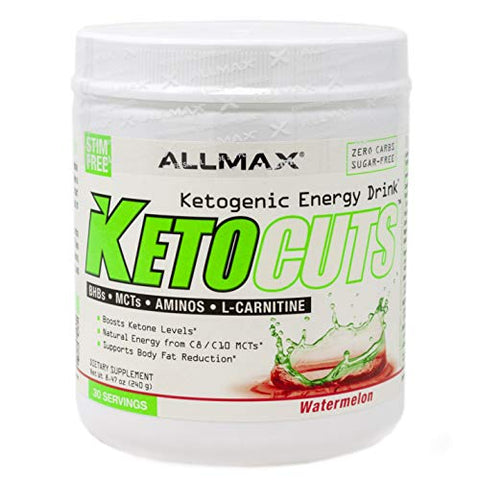 ALLMAX Nutrition KetoCuts, Ketogenic Energy Drink, Watermelon 30 Servings