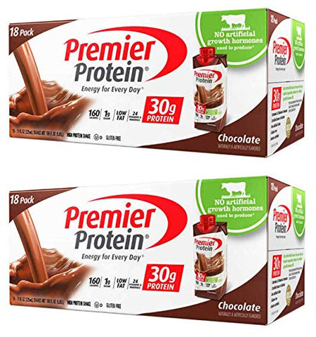 IUYEHDUH Nutrition High Protein Shake, Chocolate, 18 Count -(11 fl.oz Each) 2 Pack