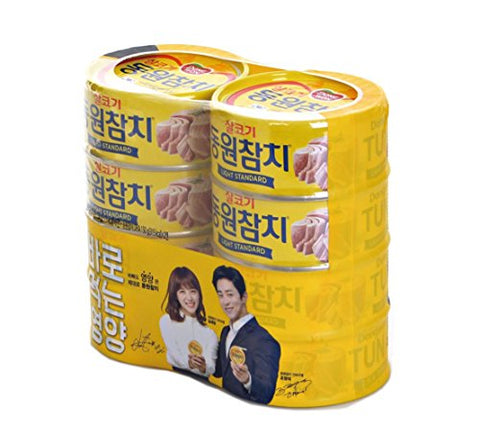 [ 8 Packs ] Dongwon Tuna ???? Light Standard 150g x 6, DHA 150g x 2