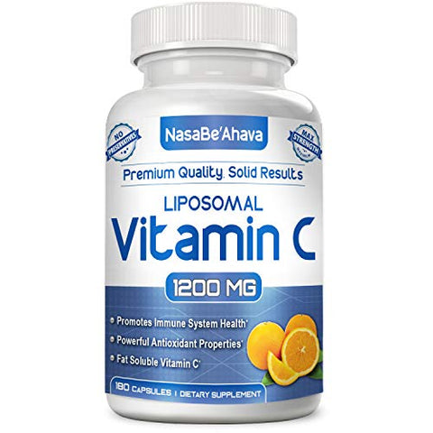 NASA Beahava Liposomal Vitamin C - 1200mg Supplement - 180 Capsules - High Absorption Vitamin C Ascorbic Acid Pills - Liposome Encapsulated - Supports Immune System - Non-GMO - 90 Servings