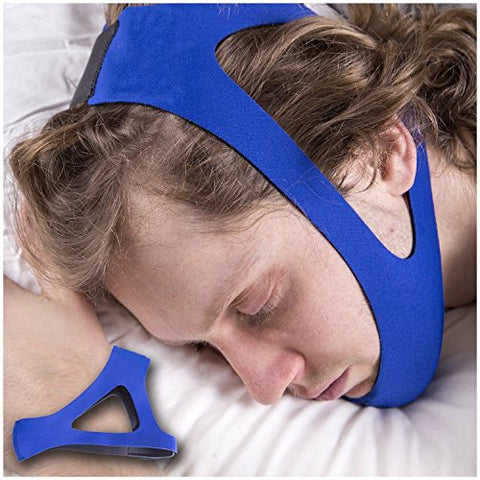 SleepWell Pro (2017) Stop Snoring CPAP Chin Strap & Anti Snore Stopper Jaw Supporter Device