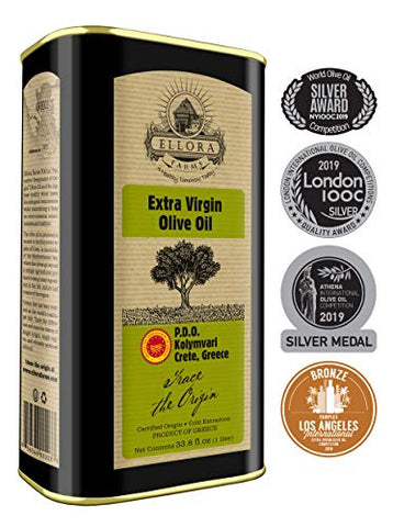 Ellora Farms, 2020 Gold Award Winner, Certified Pdo Extra Virgin Olive Oil, Single Estate, Single Or