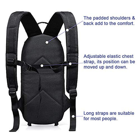 Healvaluefit Oxygen Tank Backpack O2 Cylinder Carrying Holder Bag Fit Size M4/A, M6/B, M9/C, M2, ML6 (Black)