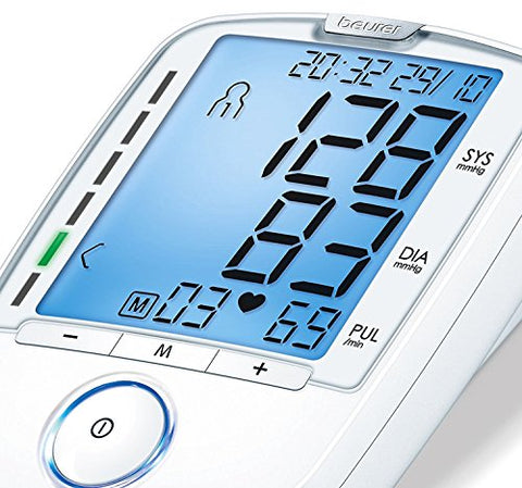 Beurer Bm47 Upper Arm Blood Pressure Monitor, Large Cuff | 4 Users, Fully Automatic & Digital, Xl Di