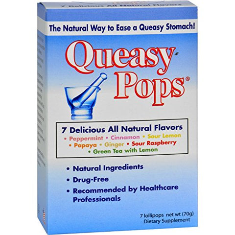 Three Lollies Queasy Pops - Assorted - 7 Pack - Gluten Free - Kosher