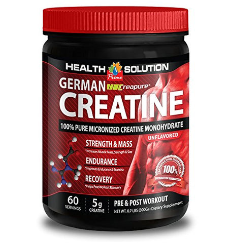 Creatine - CREAPURE MONOHYDRATE German CREATINE 300 Grams 60 Servings - Stimulate Stamina (1 Bottle)