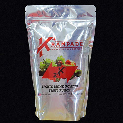 Krampade Anti-Cramping Potassium Replacement Drink - 2K Fruit Punch 2.5 Gallon Pouch Colorless