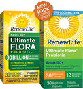 Image of Renew Life Adult Probiotic   Ultimate Flora Adult 50+ Probiotic Supplement   Shelf Stable, Gluten, D