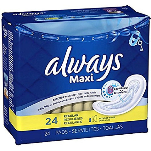 Always Maxi Regular Pads 24 pk (Pack of 12)