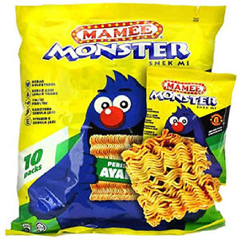 Mamee Monster Family Pack Snack Noodles 56 Packs x 25g (628MART) (Mix)