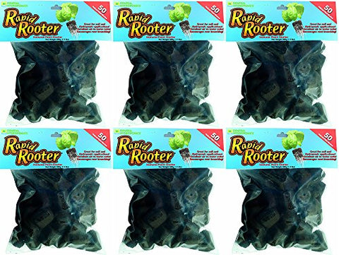 General Hydroponics Rapid Rooter Replacement Plugs ByXGuAH, 50 Count (6 Pack)