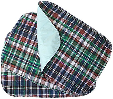 30 Pack - Plaid Small Washable Chair Pad Bed Pad/Small Reusable Incontinence Chair Underpad 18x24 - Perfect for Children and Adults Incontinence Protection