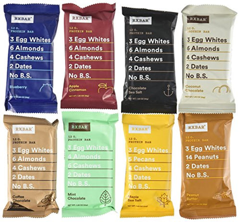 RXBAR Whole Food Protein Bar, Variety Pack of All 7 Delicious Flavors (Pack of 12)