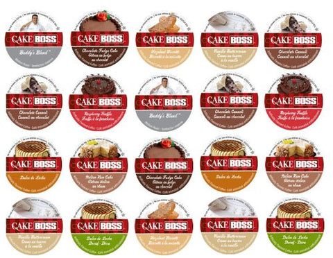20 Cup Cake Boss Coffee GIFT BOX Sampler! New Flavors! Chocolate Cannoli, Italian Rum Cake, Raspberry Truffle+ Perfect GIFT!