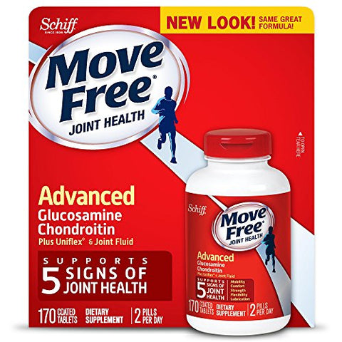 Move Free Advanced, 170 tablets - Joint Health Supplement with Glucosamine and Chondroitin