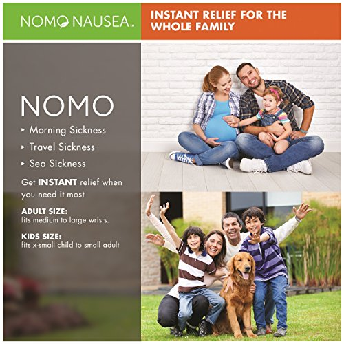 NoMo Nausea Instant Relief Large Tan Aromatherapy Anti-Nausea Bands with Acupressure