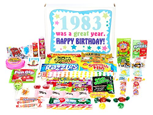 Woodstock Candy ~ 1983 37th Birthday Gift Box Of Nostalgic Retro Candy From Childhood For 37 Year Ol